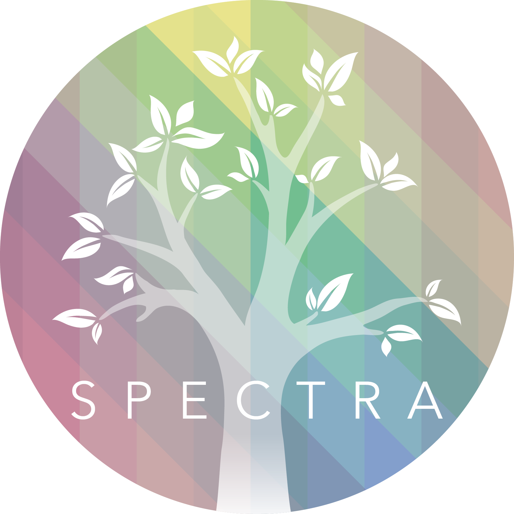 SPECTRA-Colourful logo with a tree at its centre